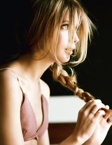 Прическа на длинные волосы из кос своими