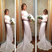Мария Кожевникова в свадебном платье (фото)