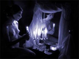 Способы гадания с зеркалом и свечой