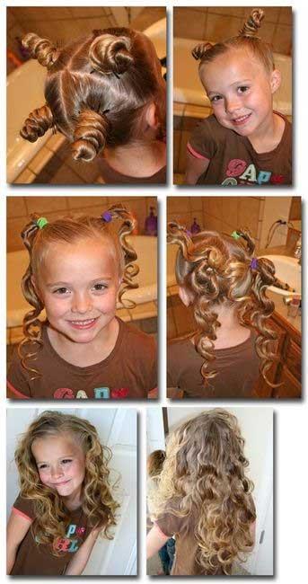 Локоны в домашних условиях для детей