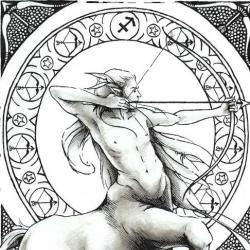 Женская натальная карта с Луной в Стрельце