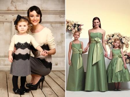 Одинаковые платья для мамы 62